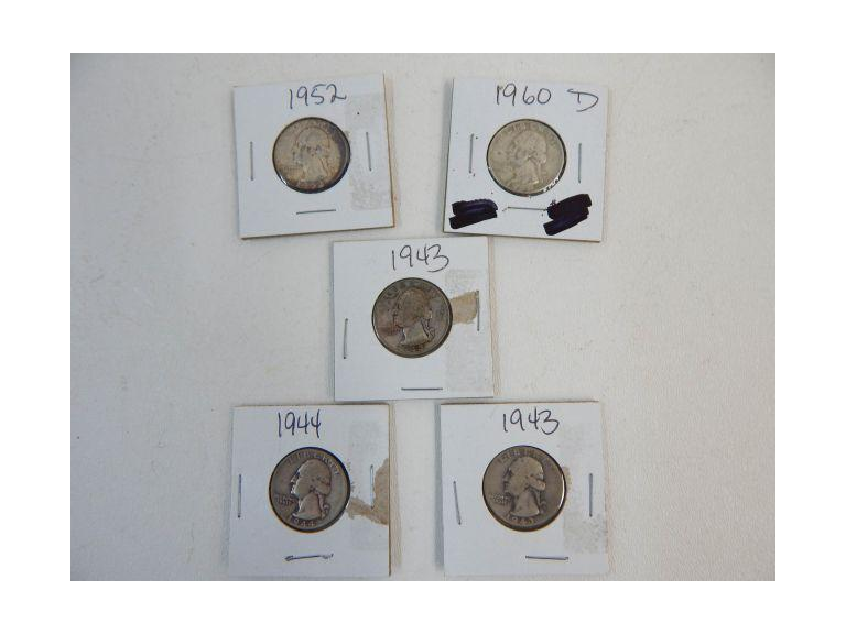 Collection of old Silver Quarters