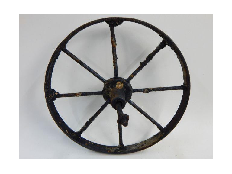 Smaller Iron Cart Wheel