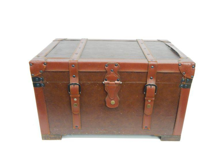 Vinyl Covered Wooden Treasure Chest