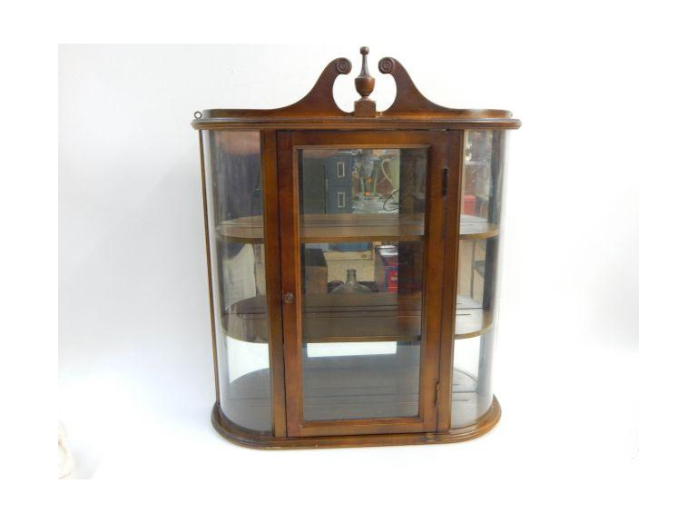 Wood & Glass Wall Display Cabinet