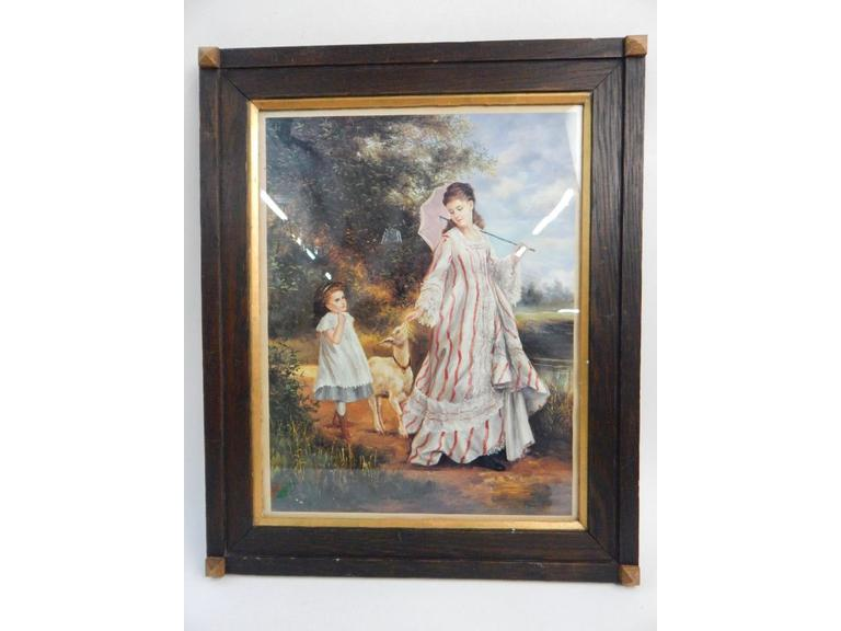 Wood Framed Lithograph Print