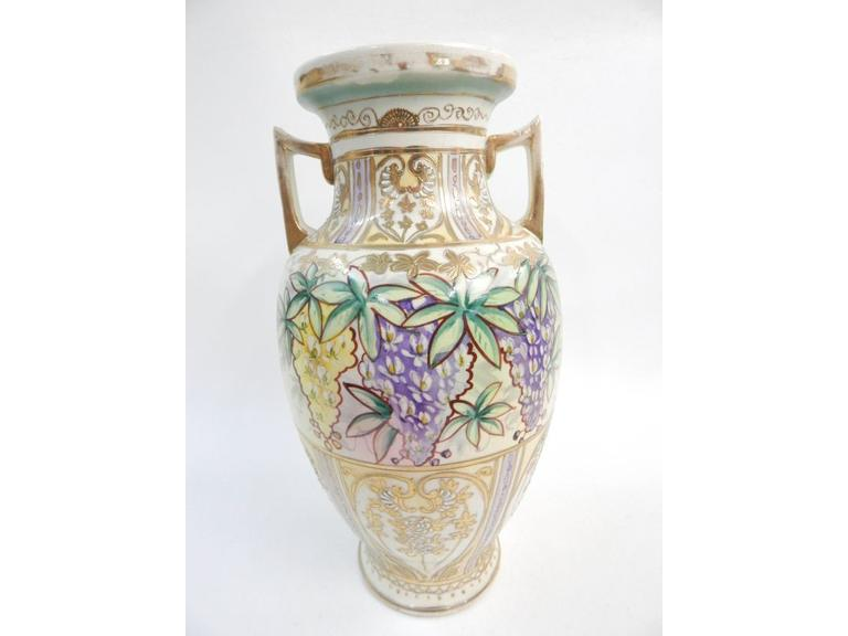 Japanese Hand Decorated Vase
