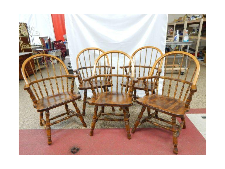 Wooden Spindle Back Dining Chairs