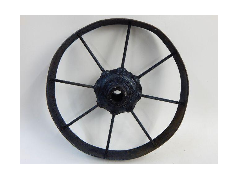 Antique Iron Cart Wheel