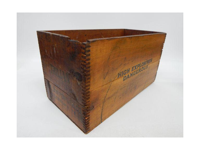High Explosives Wooden Crate