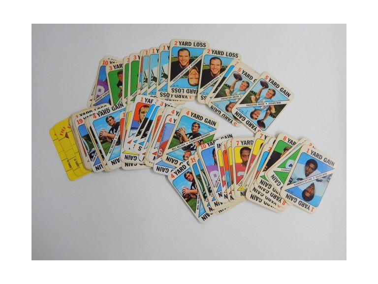 1971 Topps Football Card Game cards