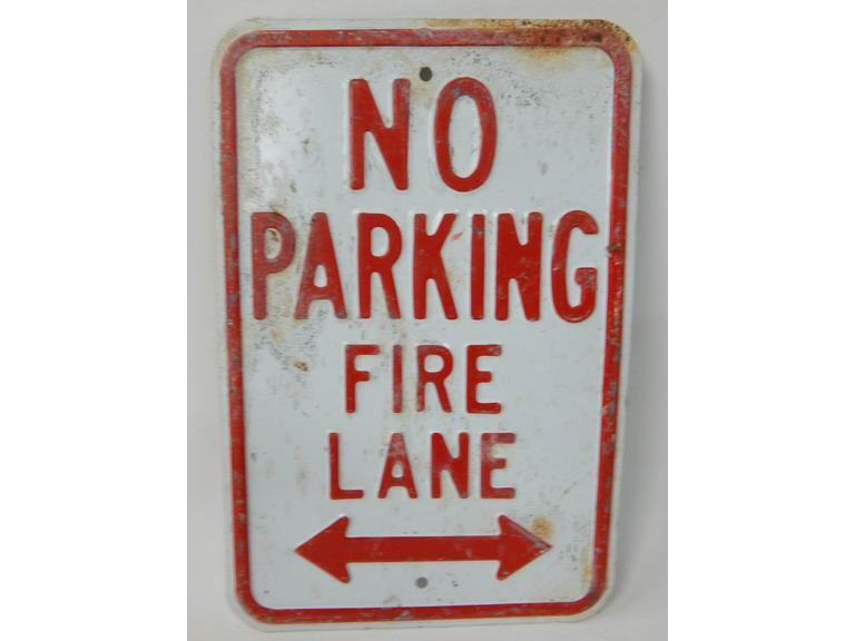 Embossed Steel No Parking Sign