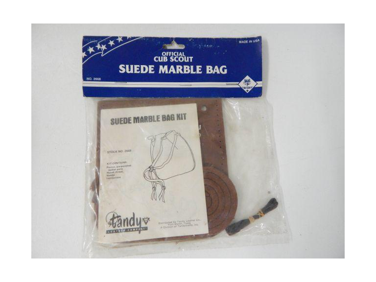 Cub Scouts Leather Marble Bag