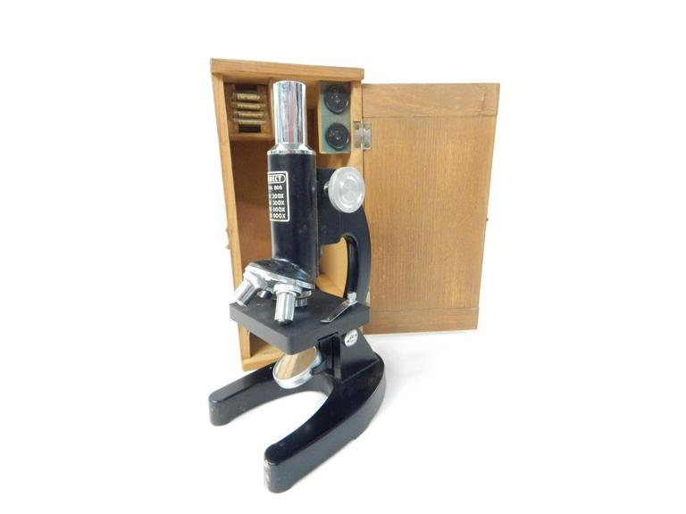 Vintage Microscope Set