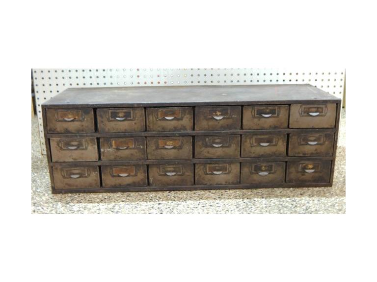 Large Industrial Hardware Drawer Unit