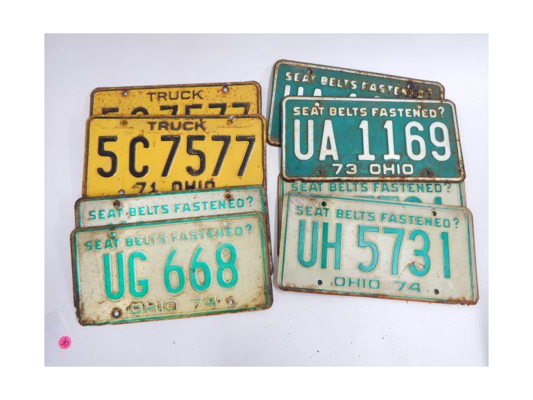 Collection of 1970's License Plates