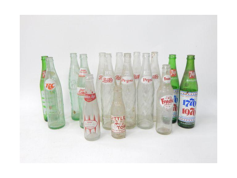 Collection of Old Pop Bottles