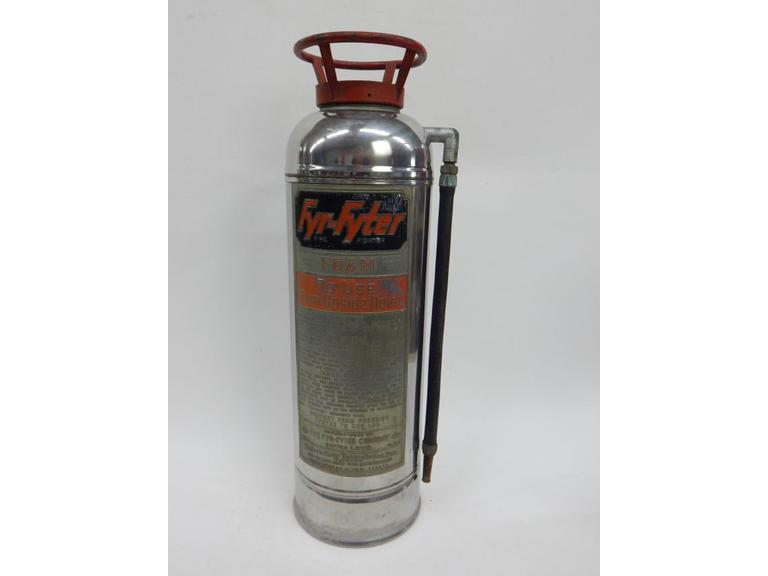 Polished Aluminum Tall Extinguisher