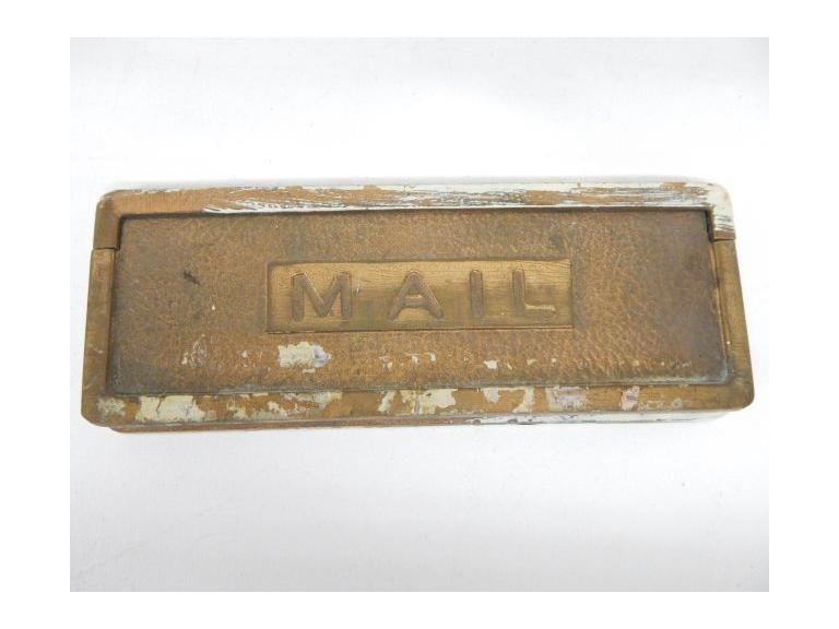 Antique Brass Mail Door Slot