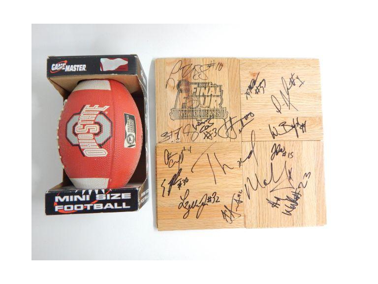 Ohio State Autographed Final 4 ad Football