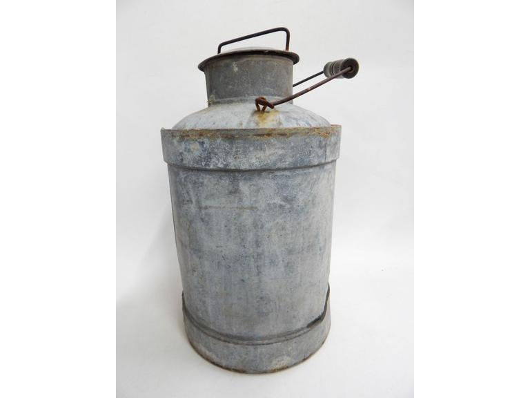 Antique Steel Cream/Milk Can