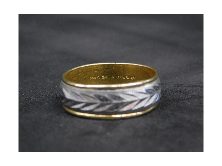 Mens Gold Fill over Sterling Vintage Ring