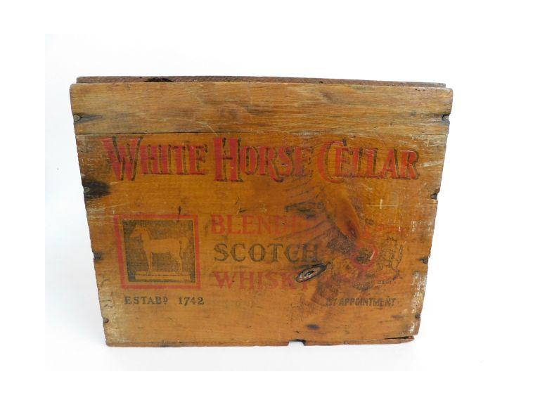 White Horse Scotch Whiskey Crate