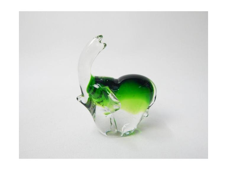 Art Glass Elephant Paperweight