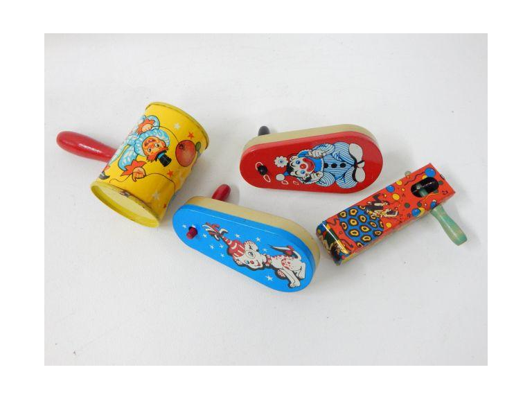 Old Tin Toy Noise Makers