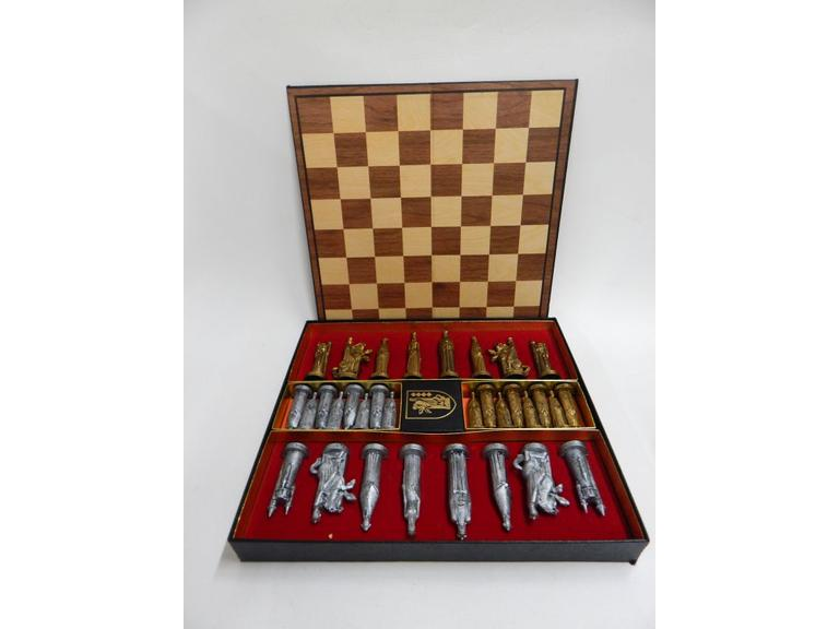Vintage 1962 Gothic Chess Set