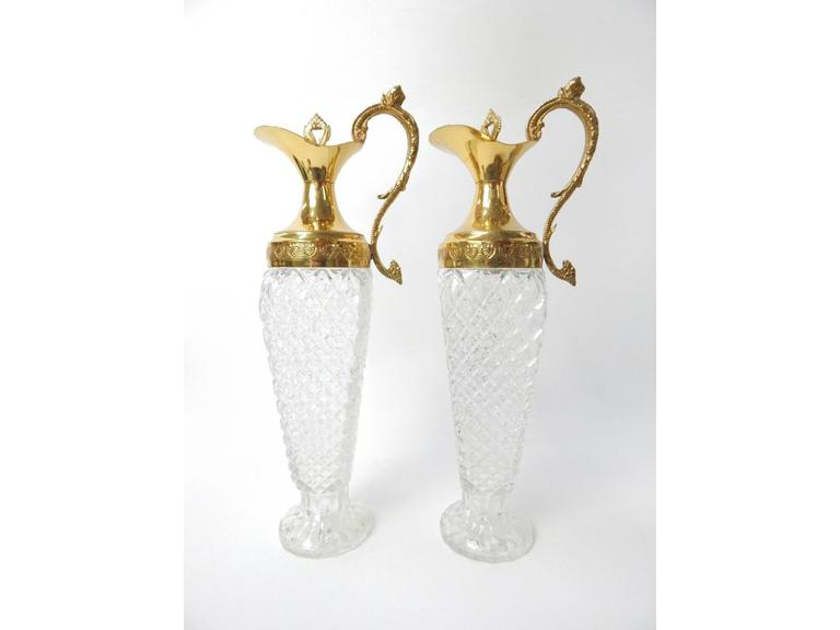 Tall Vintage Wine Carafes