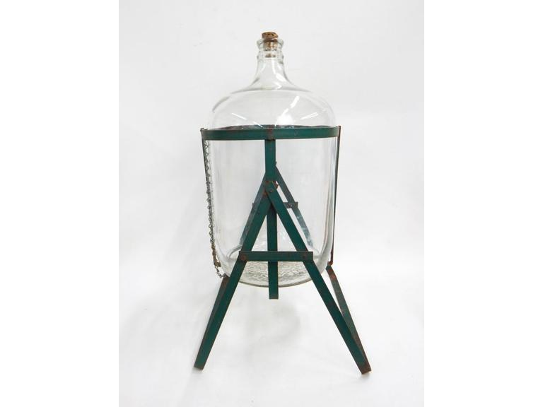 Glass Water Jug and Pouring Stand