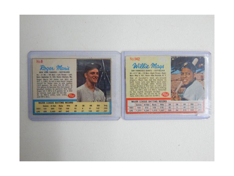1962 Post Cereal Cut Cards