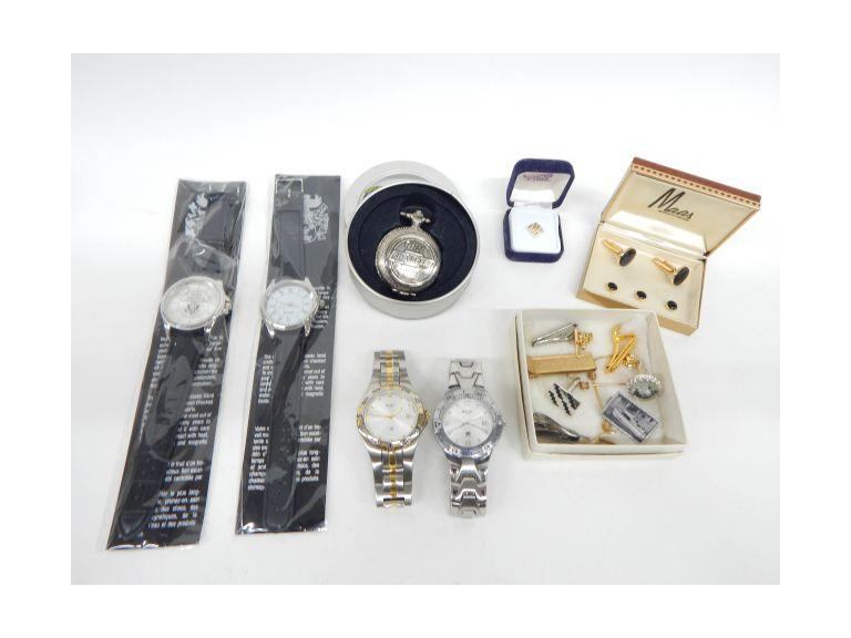 Men's Watches, Pocket Watch and Tie Clips