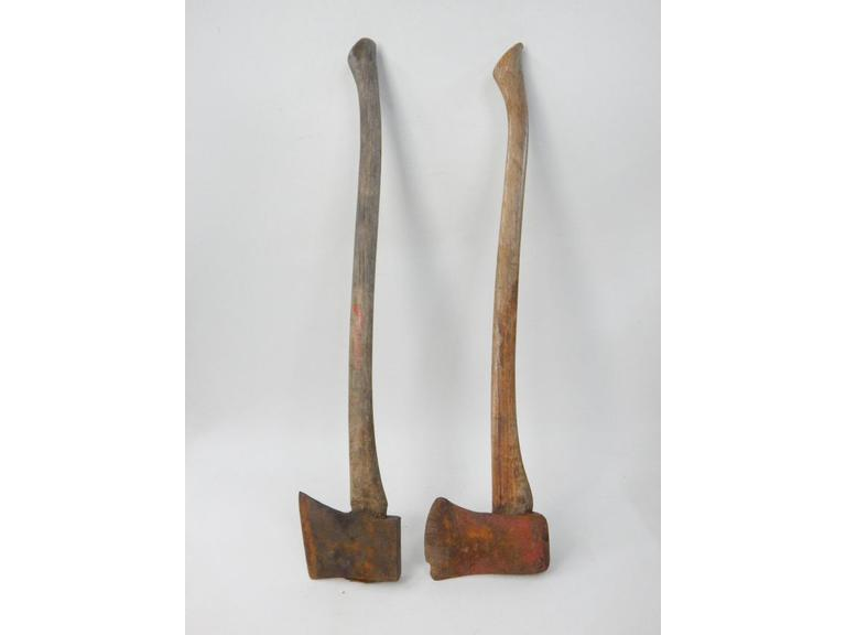 Pair of Old Wood Handled Axes