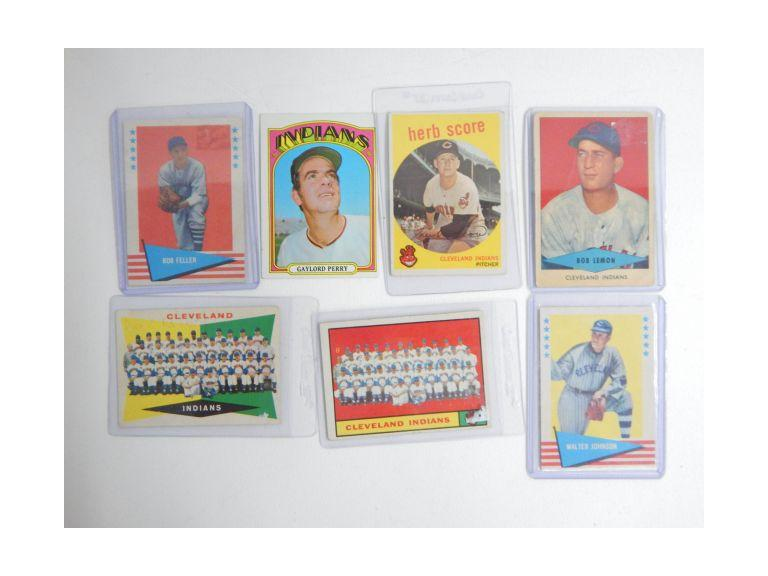 Vintage Cleveland Indian Player Cards
