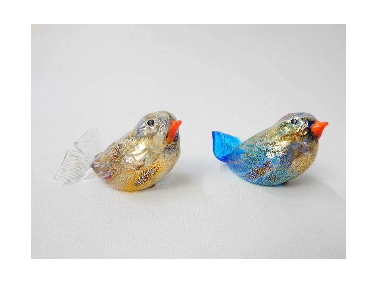 Murano Glass Bird Paperweights