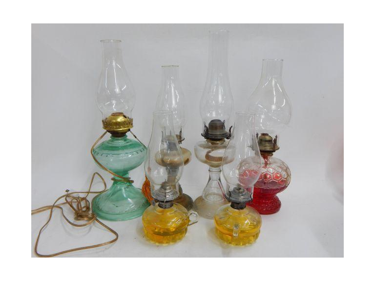 Vintage and Antique Hurricane lamps