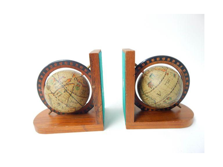 World Globe Bookends