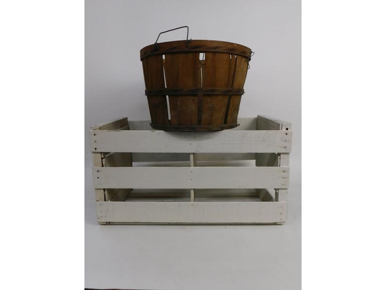 Wood Crate and Basket