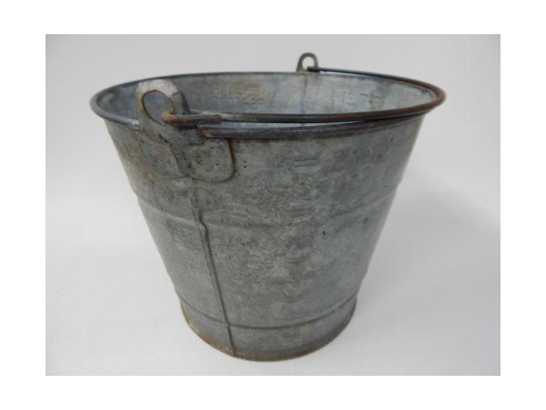 2 Gallon Galvanized Metal Bucket