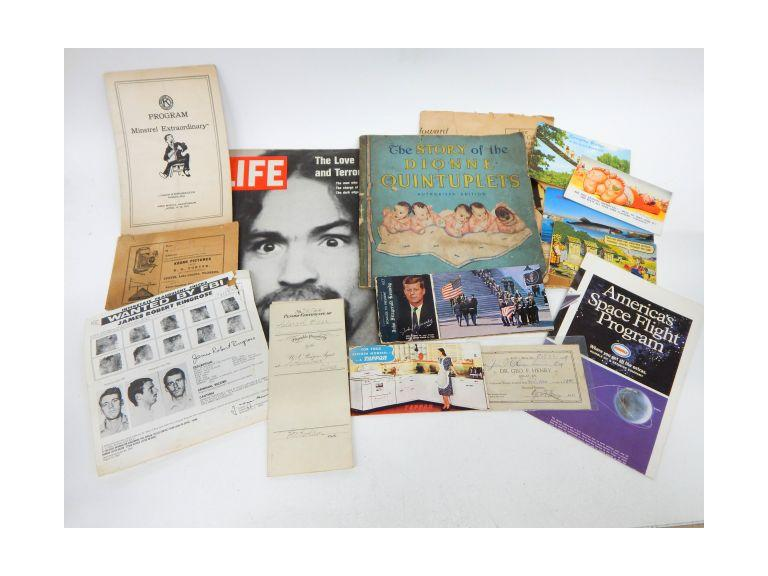 Collection of vintage Ephemera