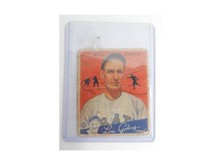 1934 Goudey Bill Swift Card