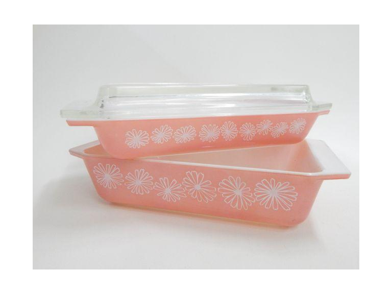 Pink Pyrex Casserole Dishes