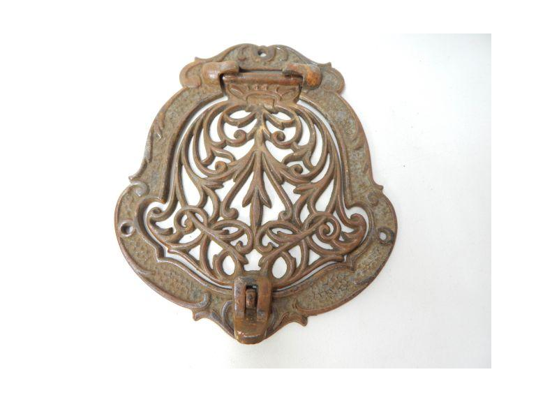Ornate Cast Iron Small Hinged Door