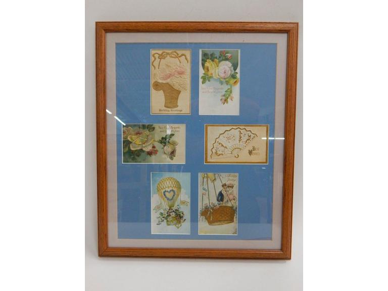 Framed Vintage Greeting Cards