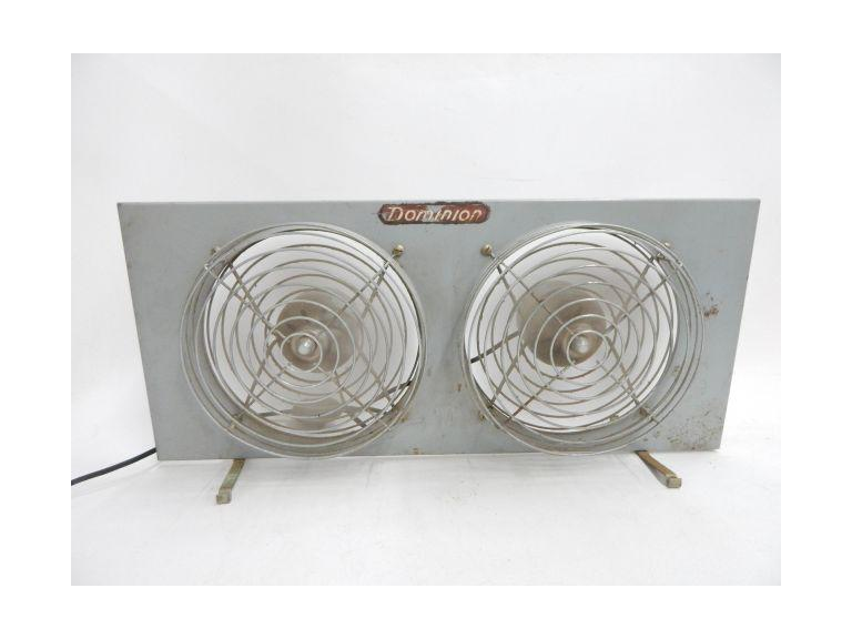 Vintage Metal Blade Double Fan
