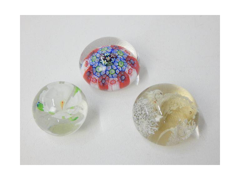 Collection of Decorative Glass Paperweights