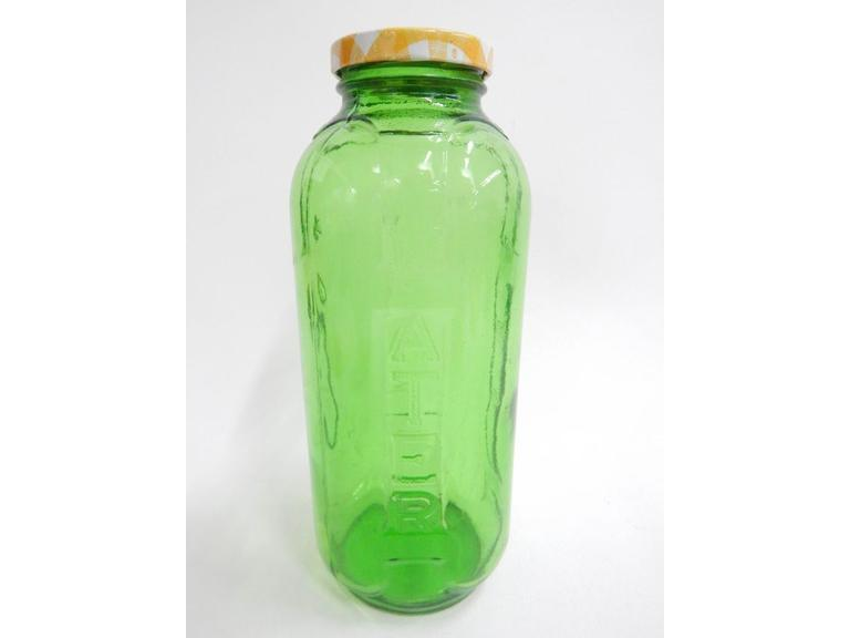 Green Glass Water Jar