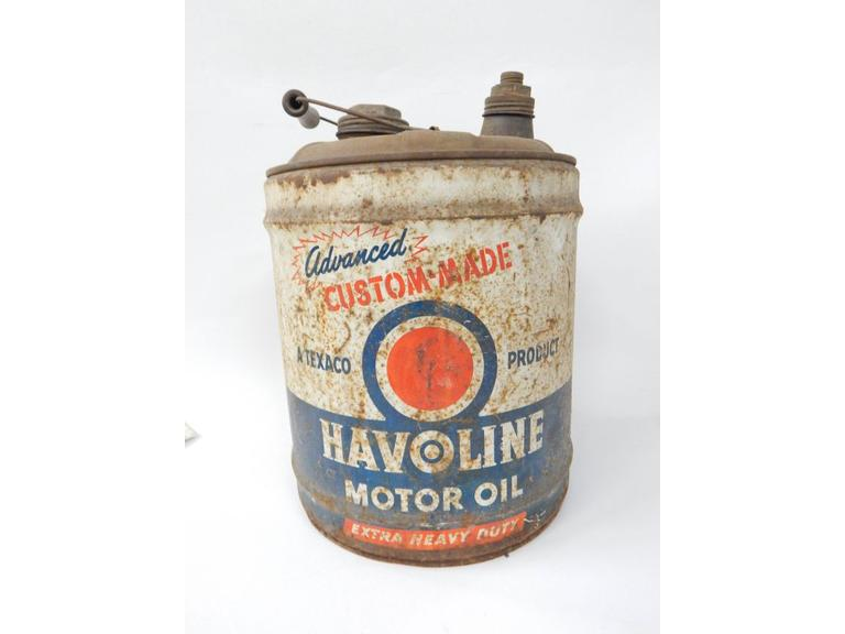 Large Havoline Motor Oil Can
