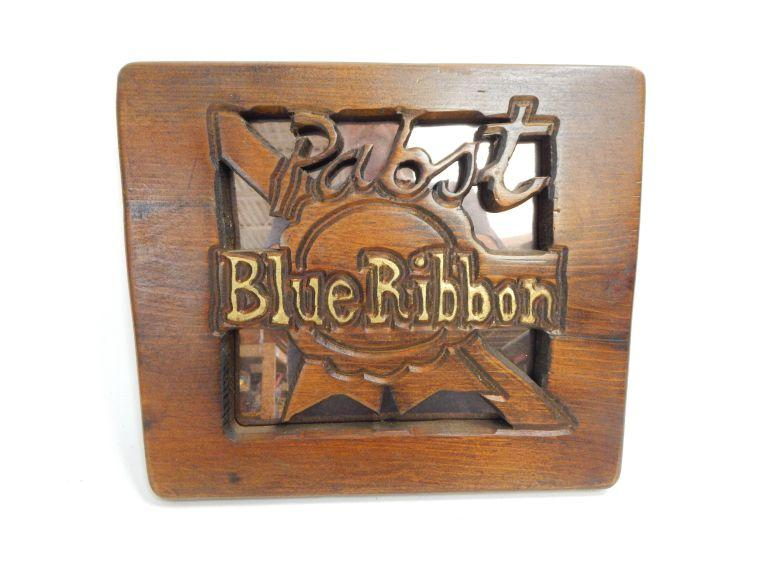 Pabst Blue Ribbon Hand Crafted Sign