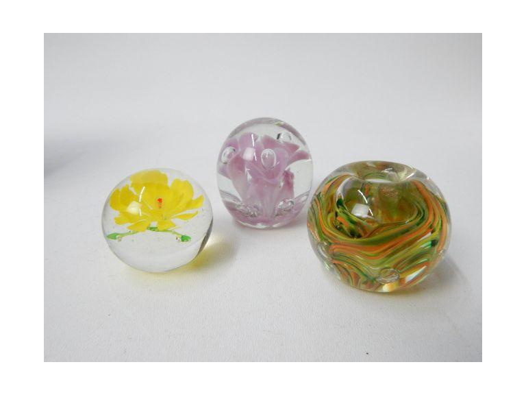 Glass Art paperweights