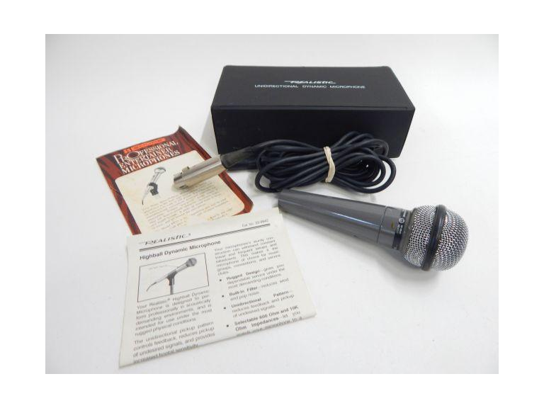 Realistic Dynamic Microphone