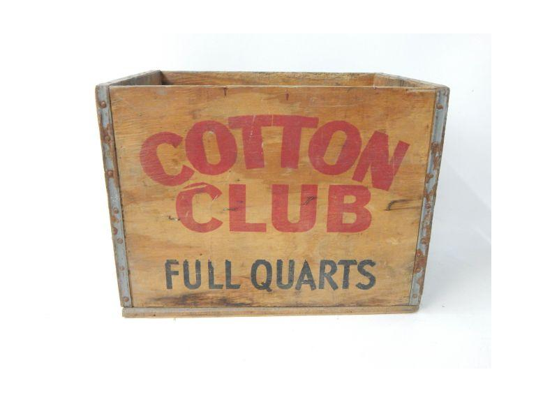 Catton Club Wooden Shipping Crate