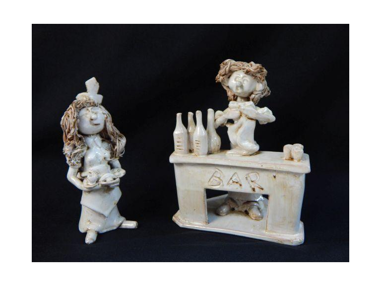 Hand Crafted Italian Pottery Figures
